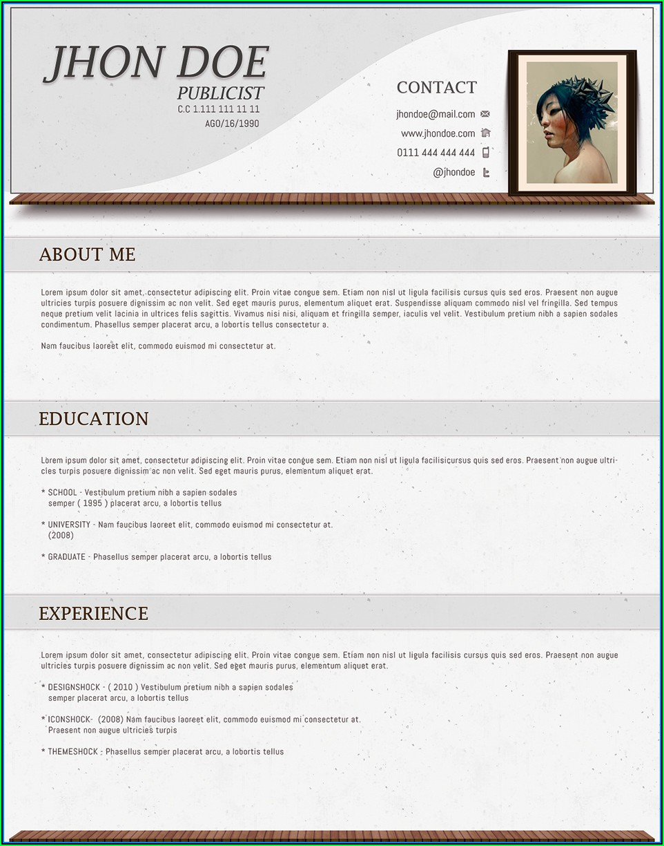 Curriculum Vitae Format For Freshers Free Download