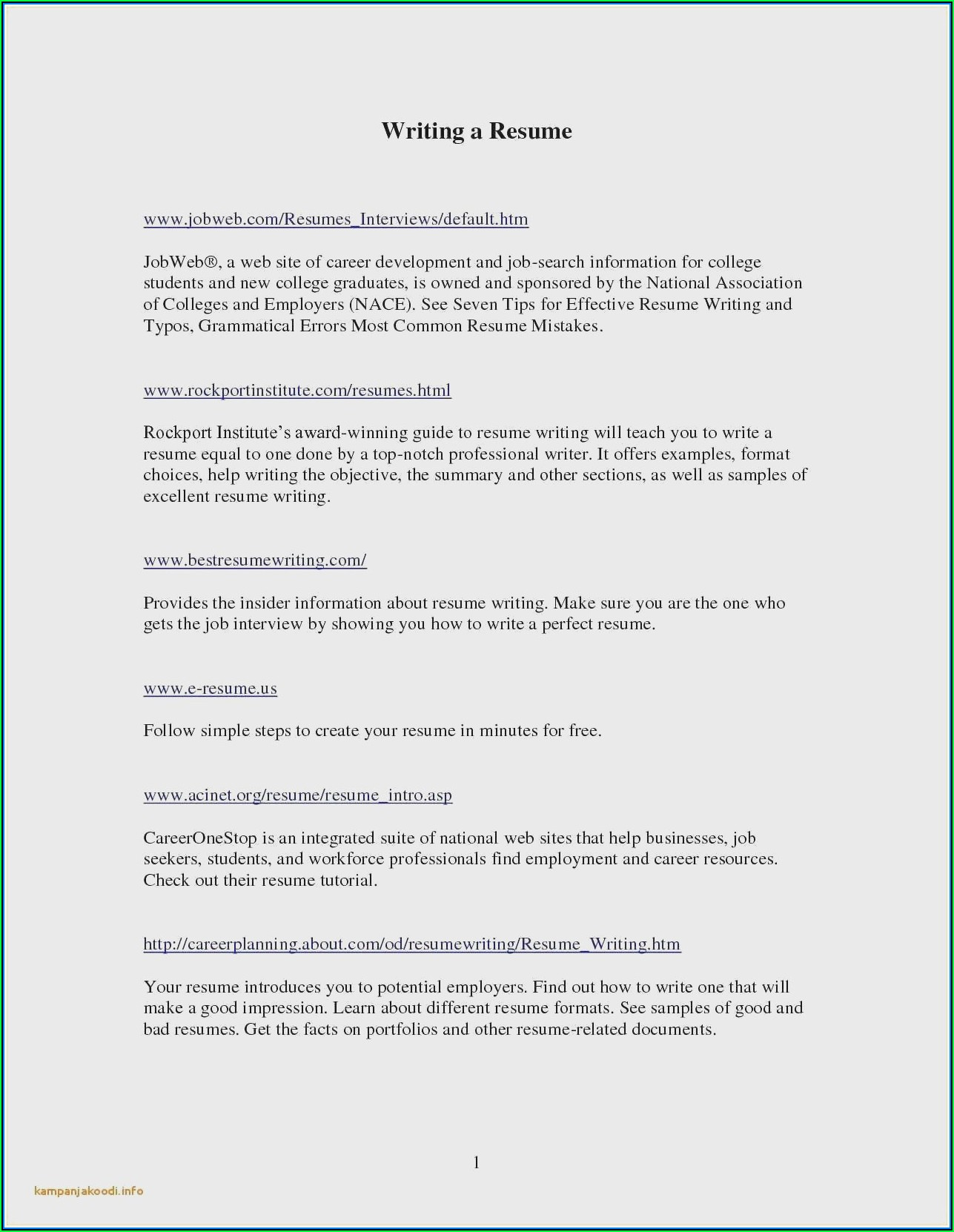 Cv Template For Chef