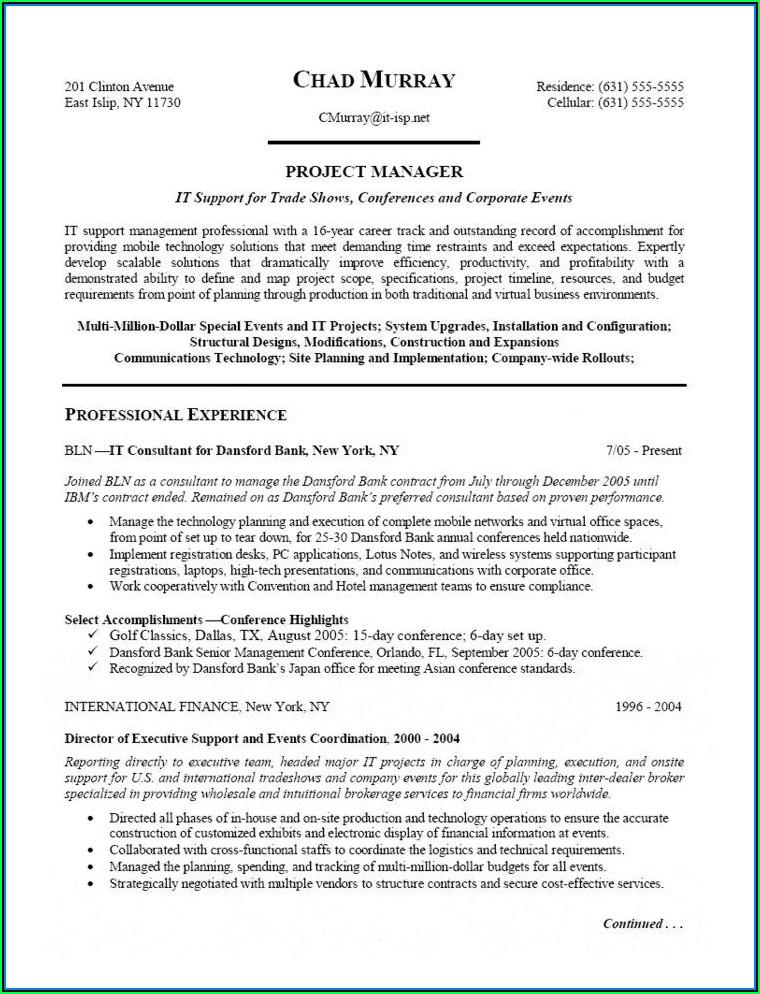 Data Center Migration Sample Resume