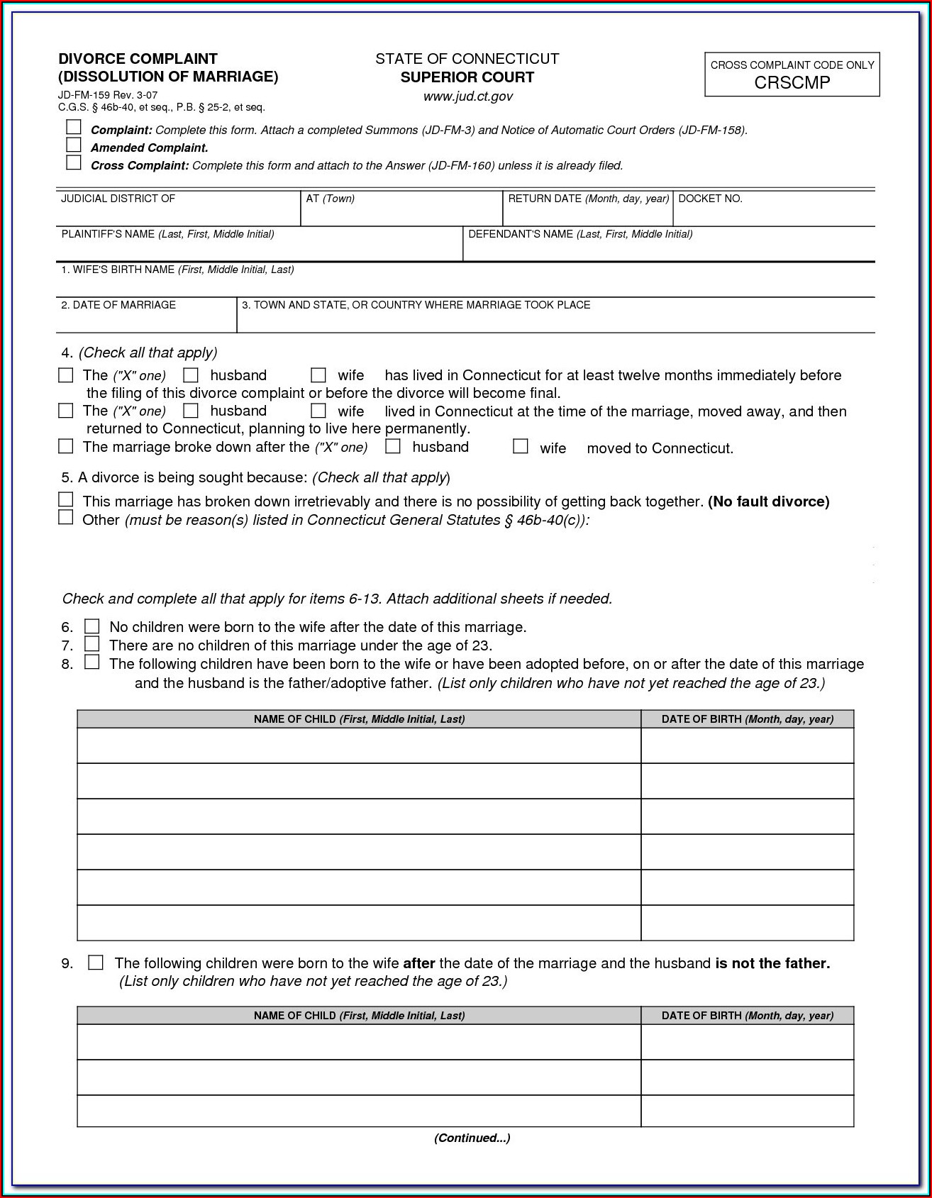 Divorce Forms Wa State
