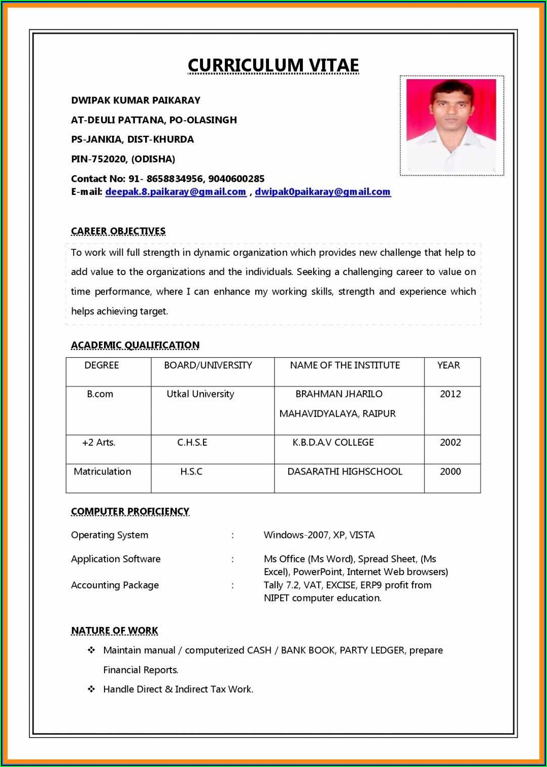 Downloadable Resume Templates Pdf