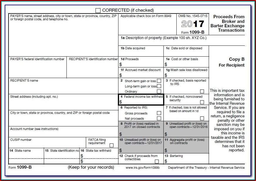 Editable 1099 Form 2017