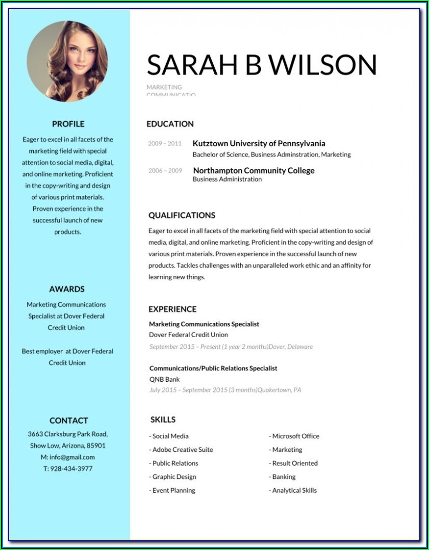 Editable Resume Download