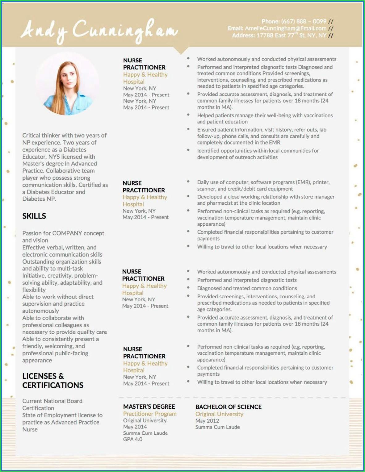 Effective Resume Templates 2018