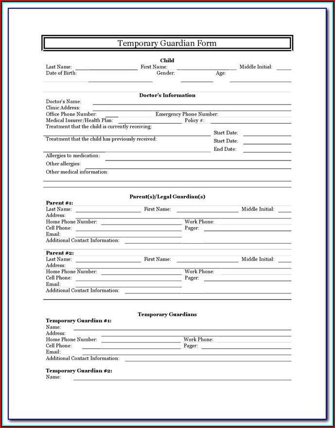 Emergency Guardianship Forms Indiana