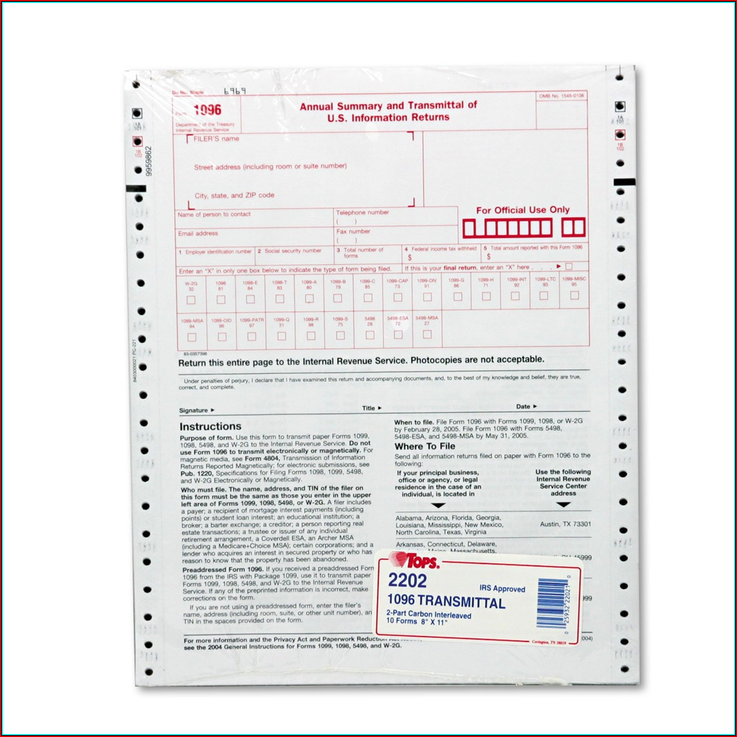 Employer 1099 Tax Form
