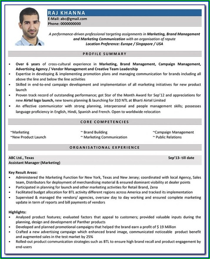 Examples Of Good Resume Formats