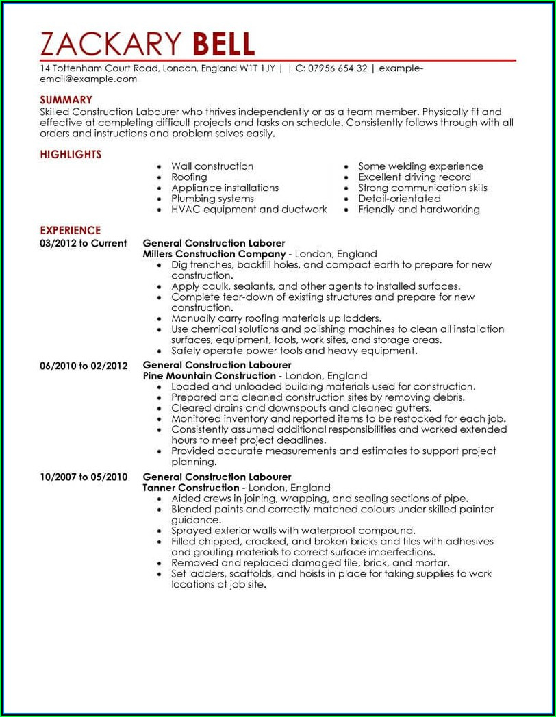 Executive Chef Resume Template Word