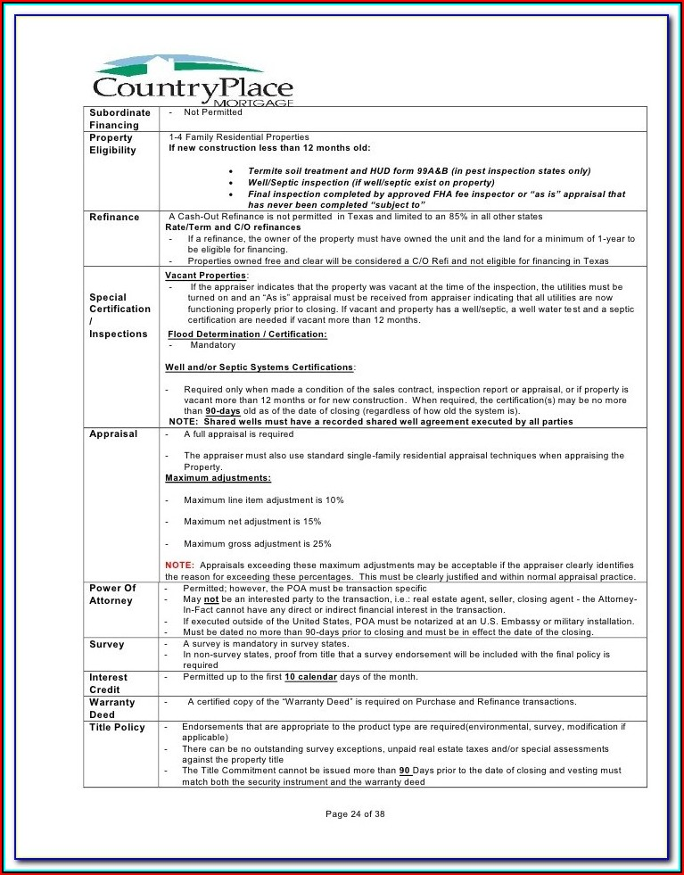 Fha New Construction Loan Forms