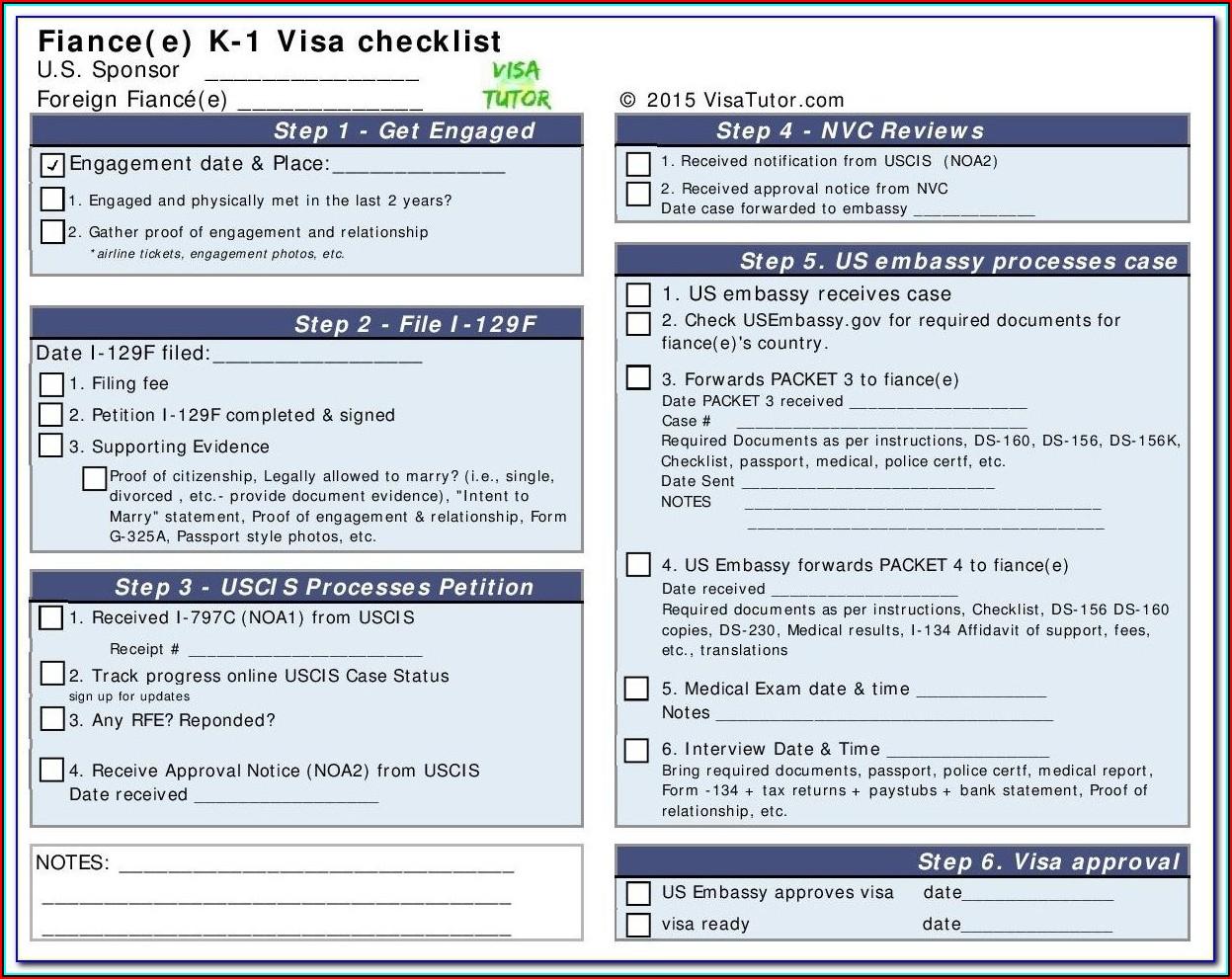 Fiance Visa Form Instructions