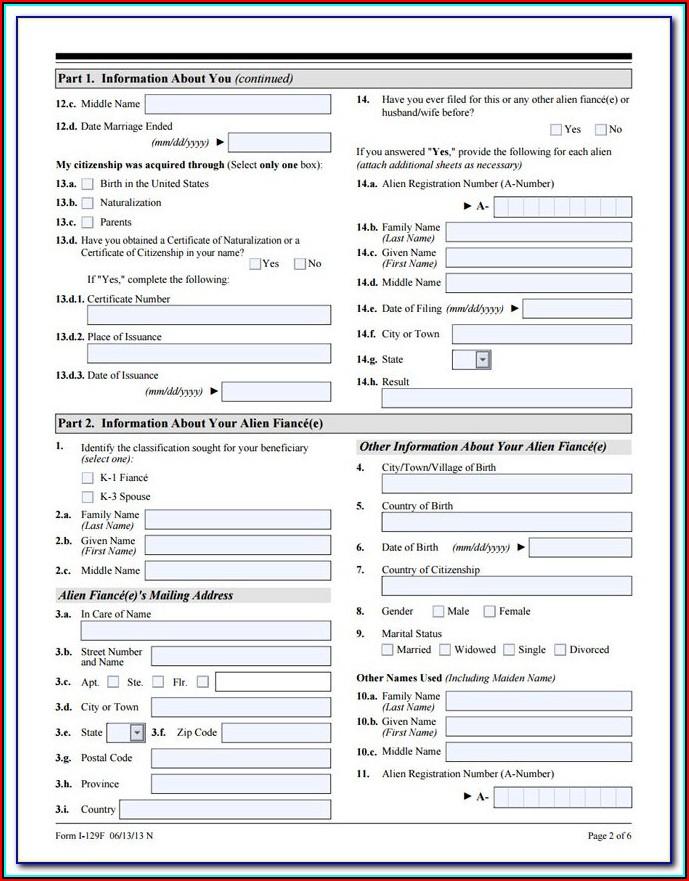 Fiance Visa Form