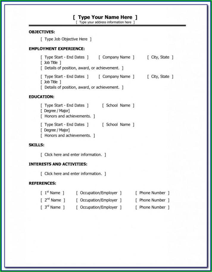 Format Of Resume For Nurses Fresher
