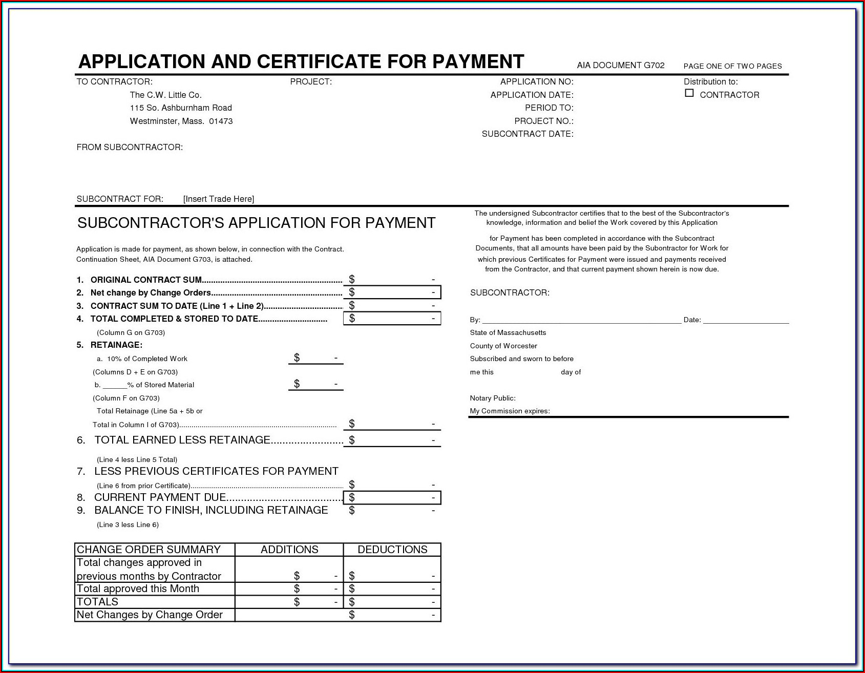 Free Aia Document G702 And G703