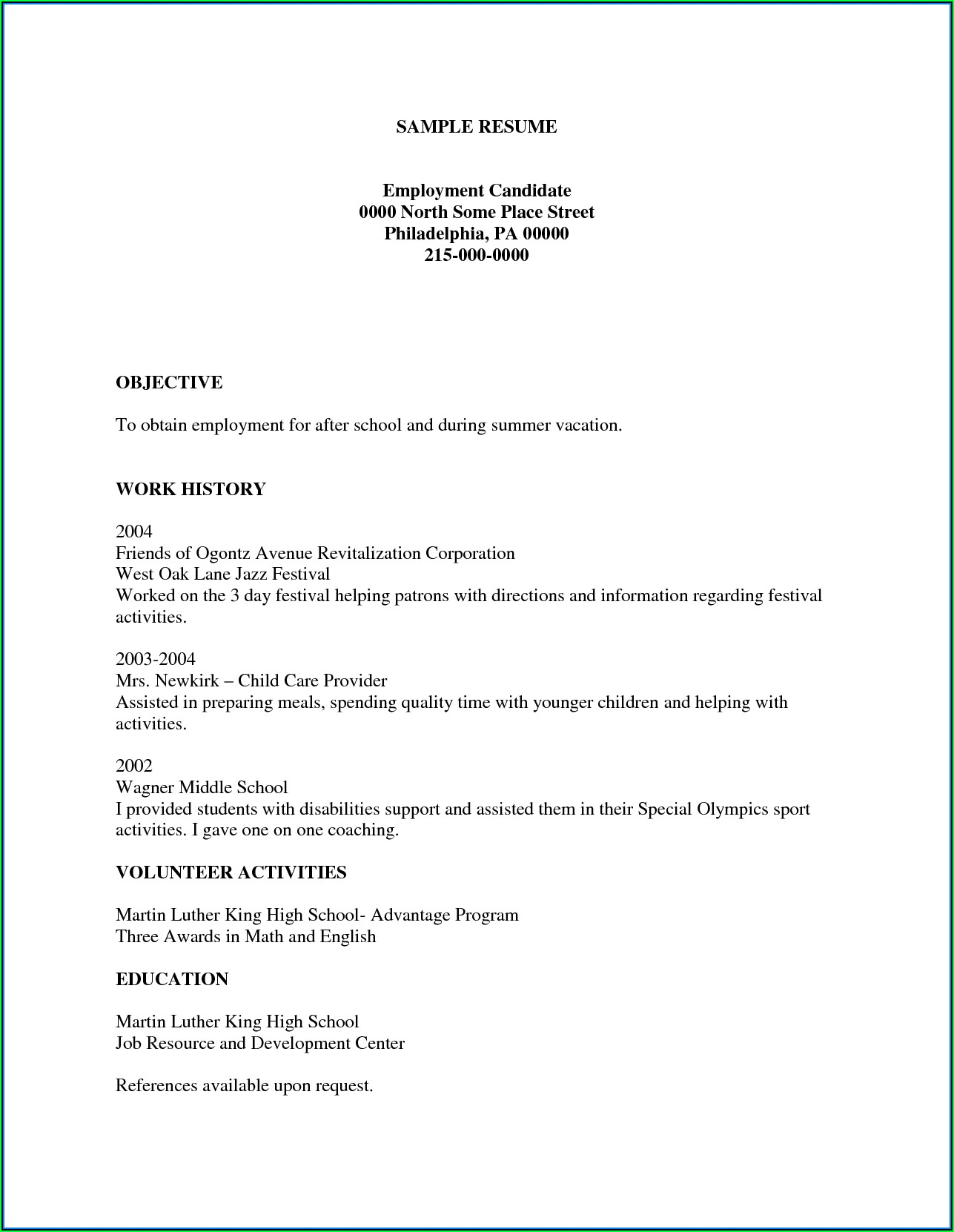 Free And Easy Resume Builder