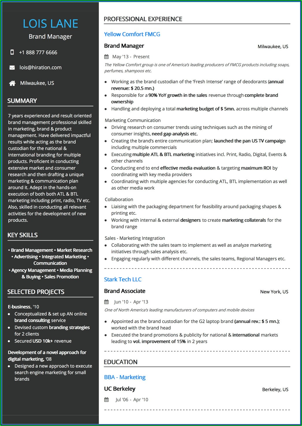 Free Combination Resume Template 2019