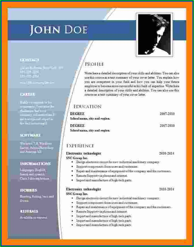 Free Download Of Cv Templates Microsoft Word