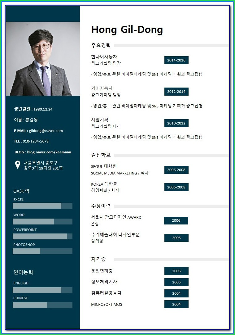 Free Editable Infographic Resume Templates