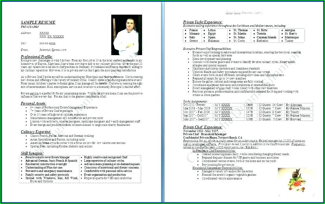 Free Executive Chef Resume Templates