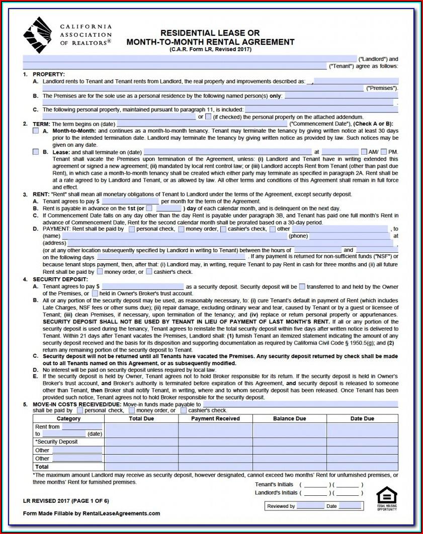 Free Georgia Rental Agreement Form