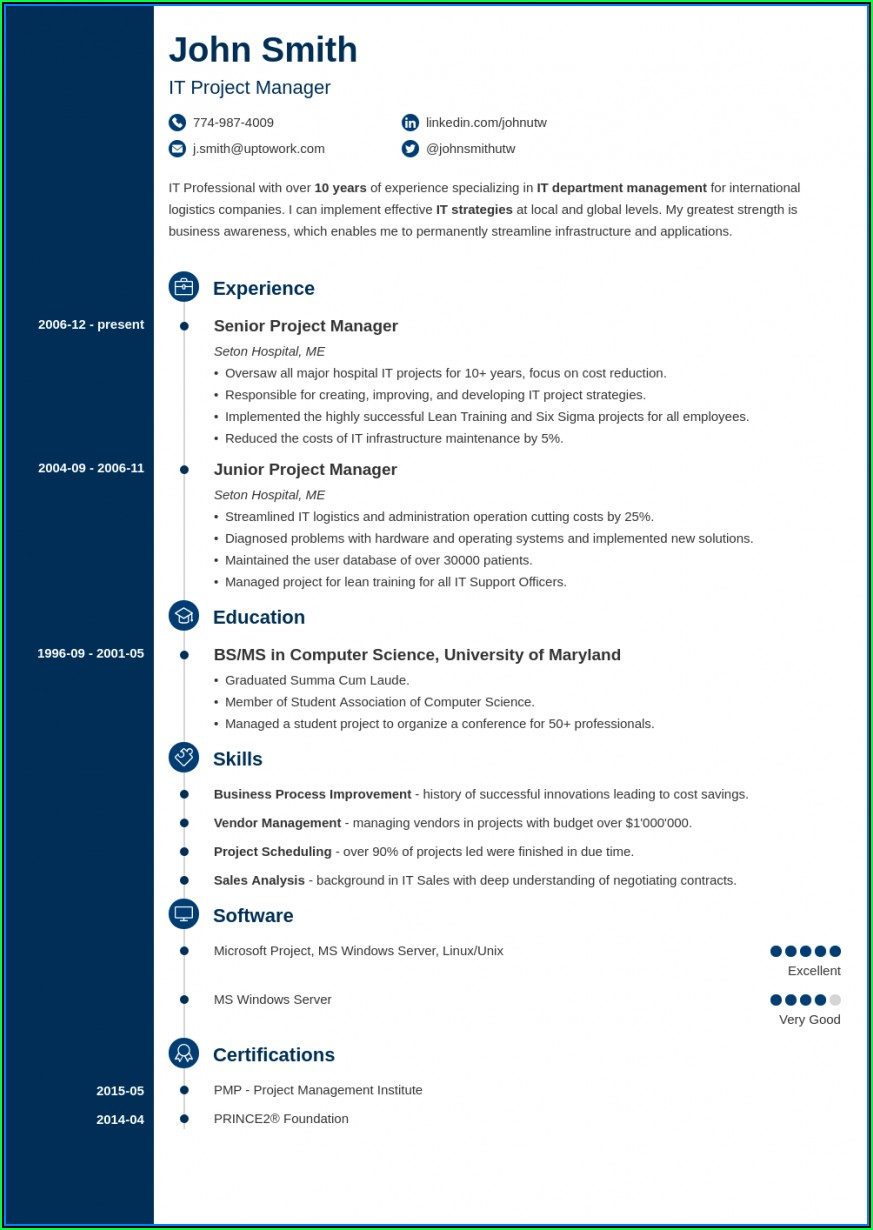 Free Good Resume Examples