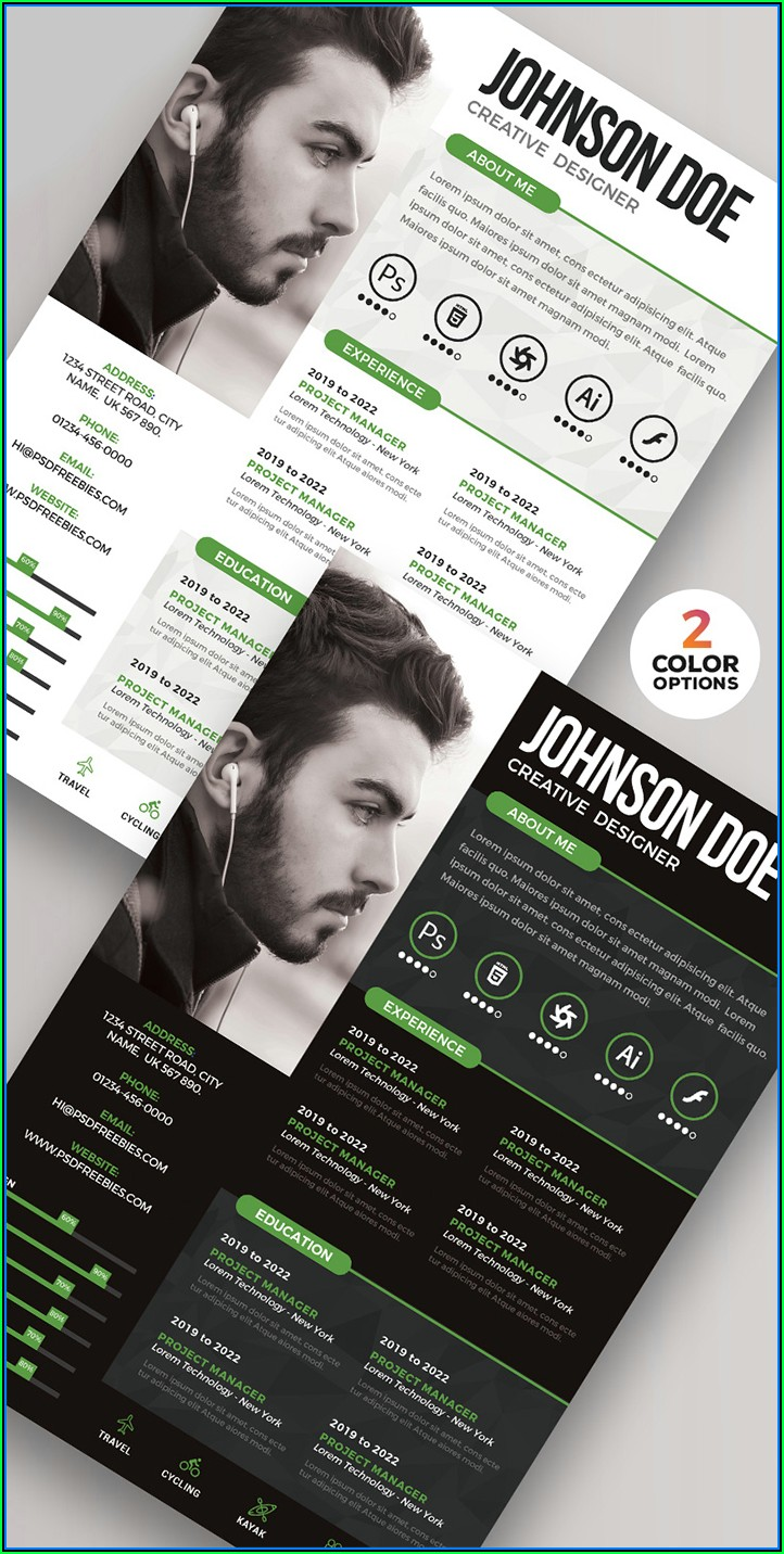 Free Graphic Design Resume Templates Download