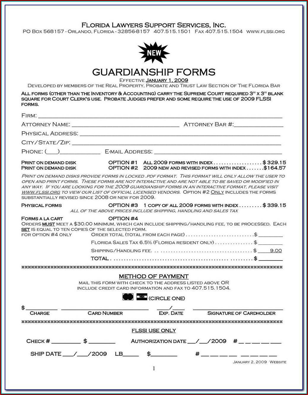 Free Guardianship Forms Arizona