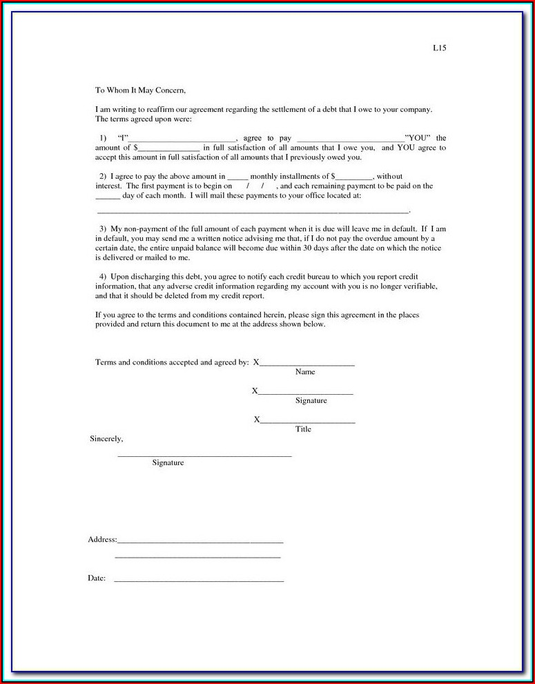 Free Legal Iou Form