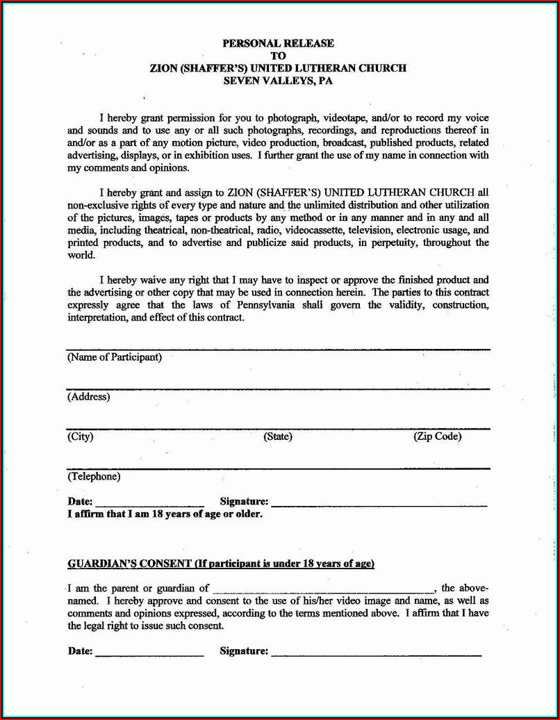 Free Lien Release Form Template
