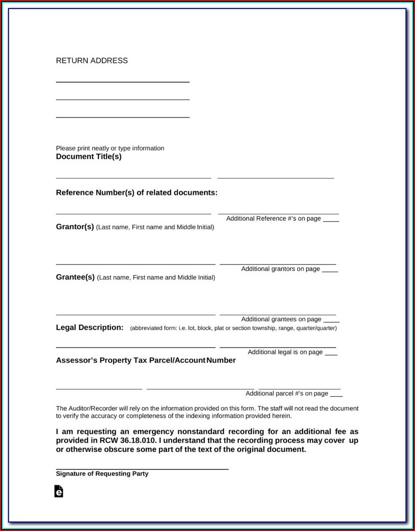 Free New York State Quit Claim Deed Form