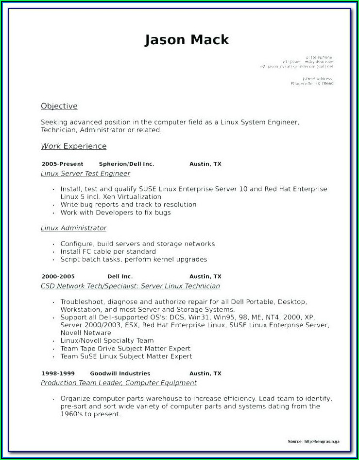 Free Nursing Resume Template Download