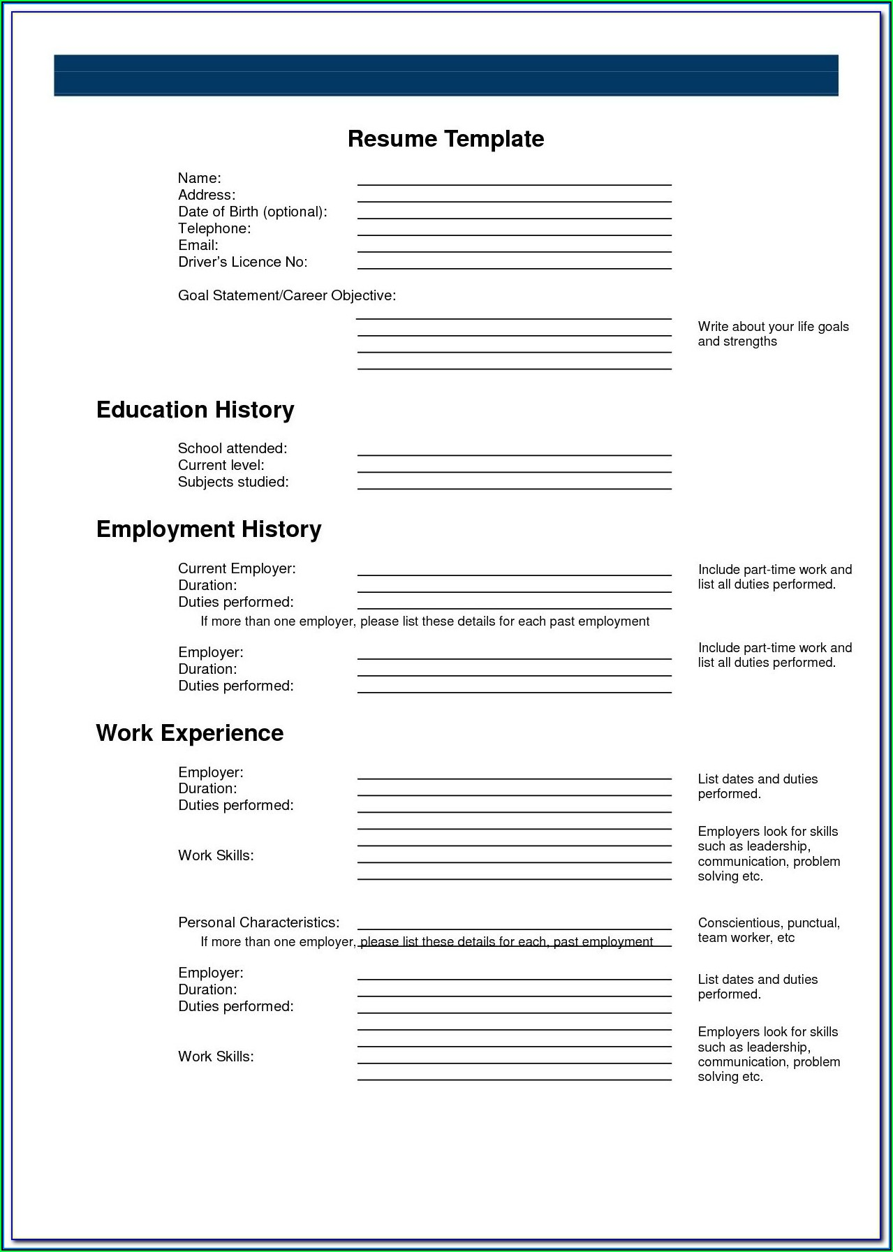 Free Plain Text Resume Builder