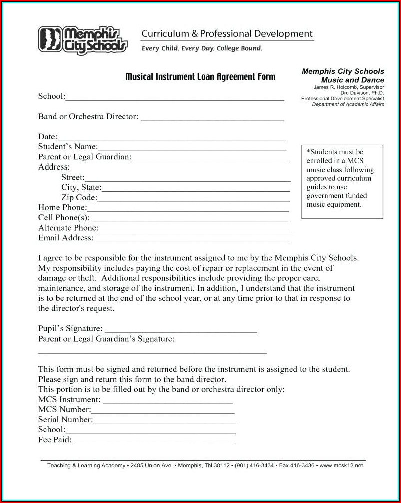 Free Printable Personal Loan Agreement Form
