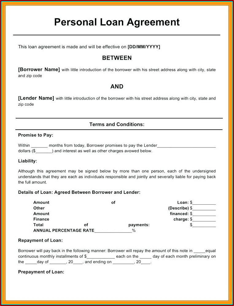 Free Promissory Note Printable Form
