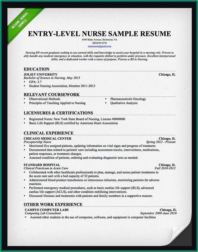 Free Registered Nurse Resume Templates
