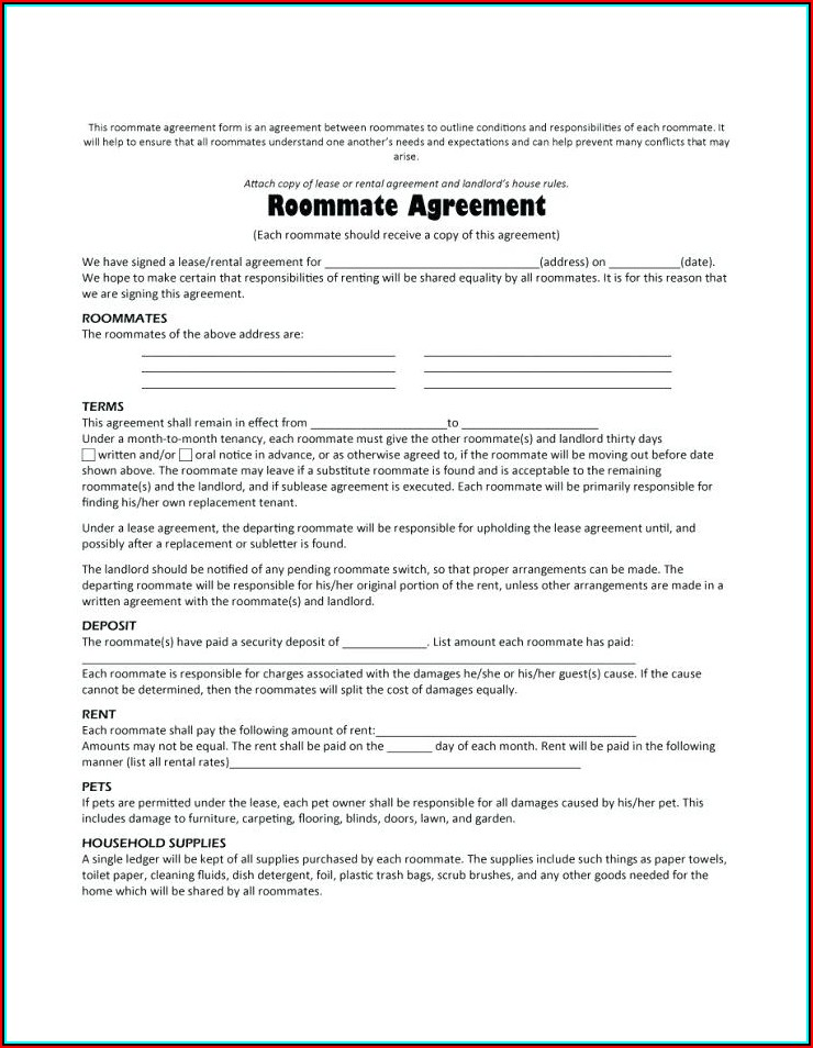 Free Rental Application Form Word Format