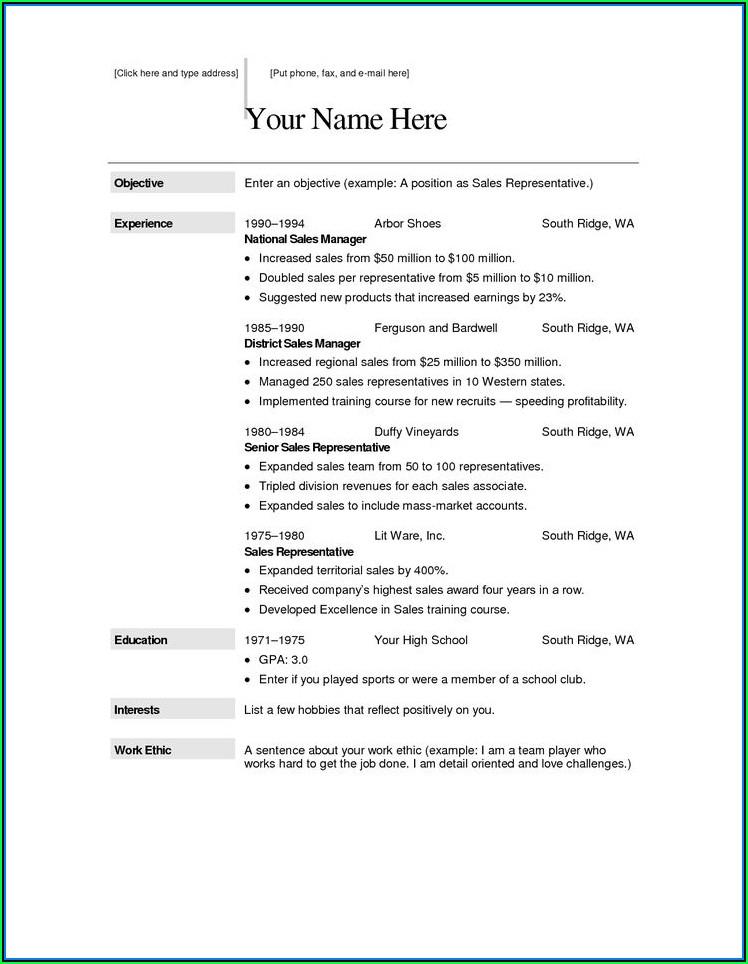 Free Resume Builder Online Free Download