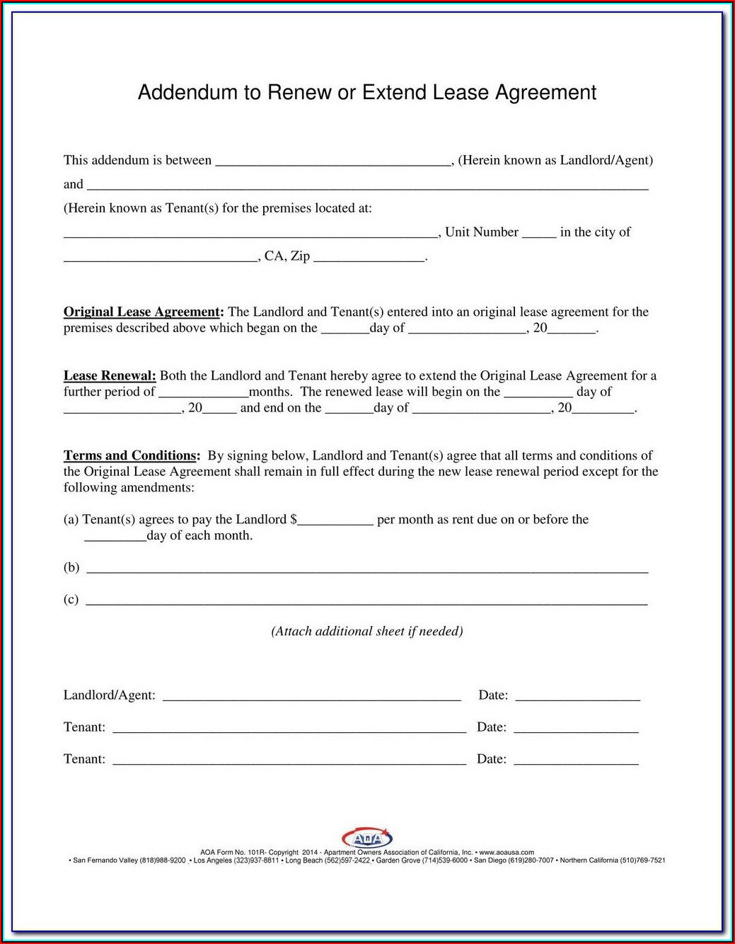 Free Texas Lease Renewal Form