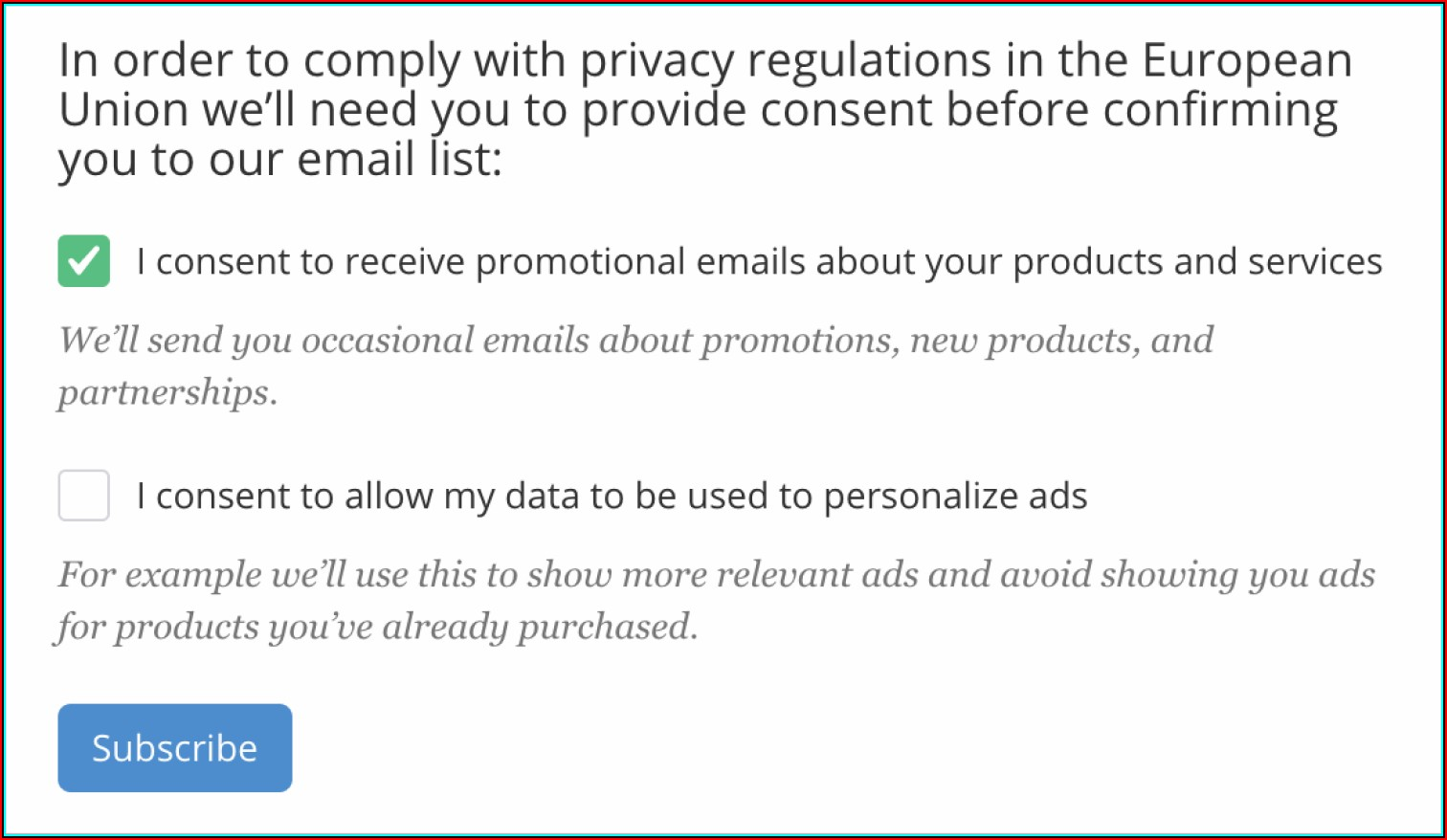 Gdpr Consent Form For Photos