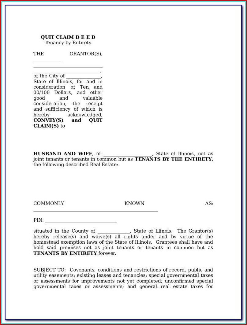 Georgia Quit Claim Deed Form Free