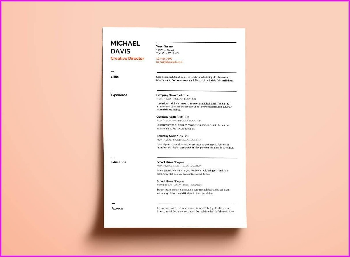 Free Resume Templates Download Google Docs