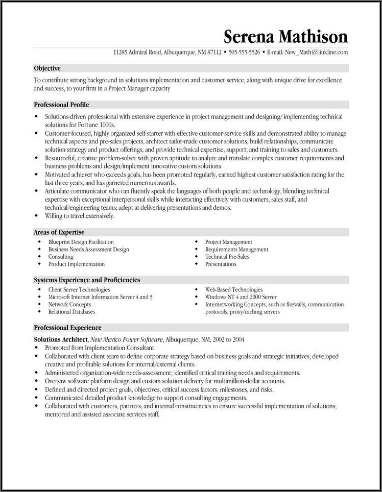 Free Resume Templates For Executive Assistants