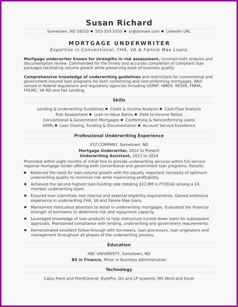 Free Resume Templates For Experienced Professionals