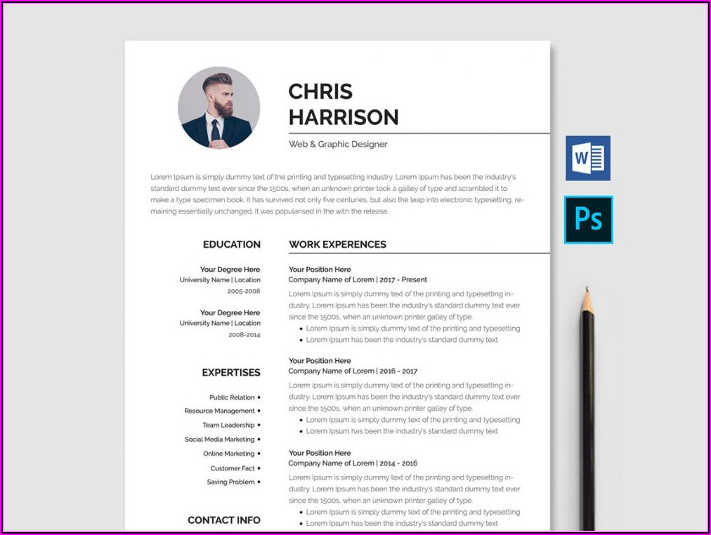 Free Template Resume Word