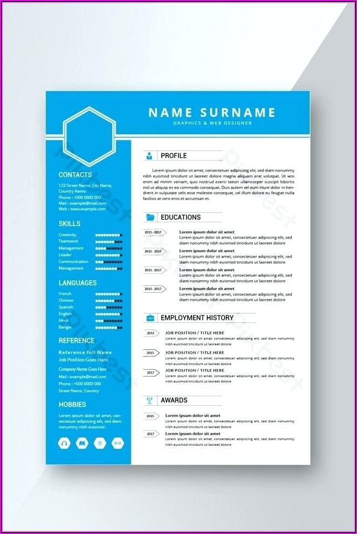 Free Templates For Professional Resume
