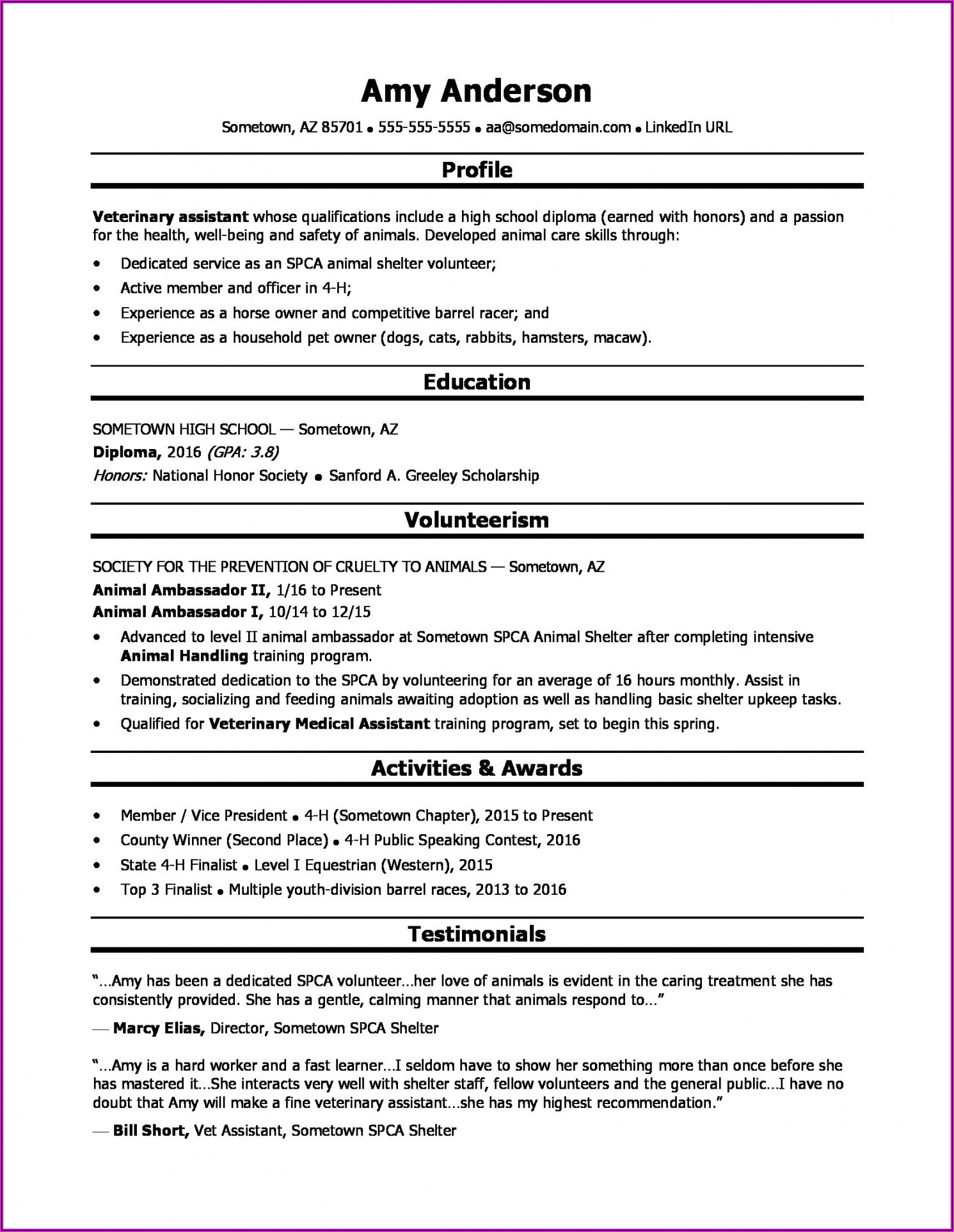 Grad School Resume Builder