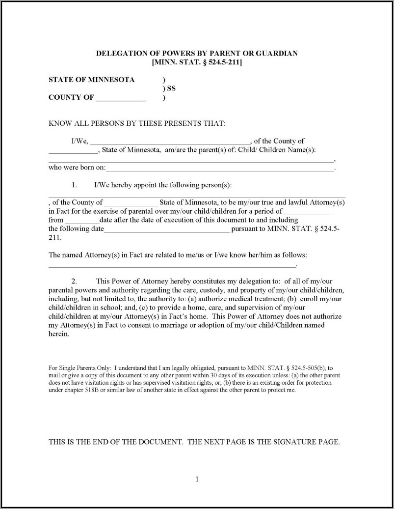 Guardianship Forms Minnesota