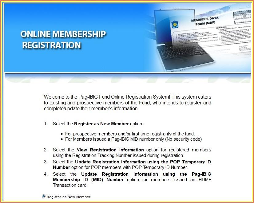 Hdmf Pag Ibig Online Registration Form