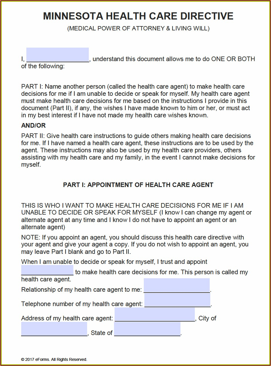 Health Care Proxy Form Texas