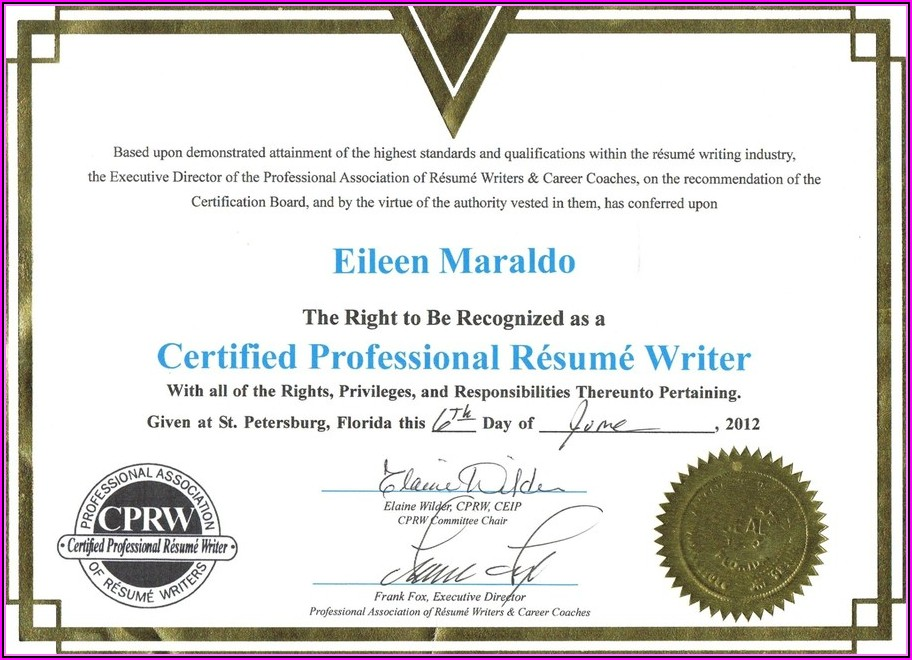 How To Become A Certified Professional Resume Writers Cprw