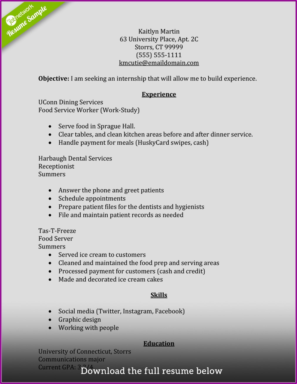 How To Build A Good Resume Examples